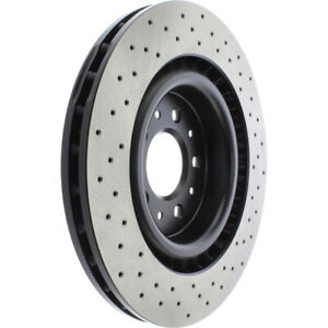 Frt Drilled Brake Rotor  Centric Parts  128.20020