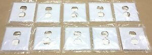 HUBBELL SS748 DUPLEX STAINLESS STEEL WALL PLATE (SET OF 10) NEW IN PKG