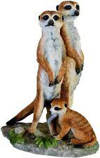 Tierfigur Erdmännchen Familie aus Kunststein von Veronese