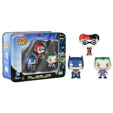 3x Pocket Mini Figur DC Comic Batman & Joker Figure Vinyl Set Tin Box Pop Funko