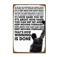 """Metal Painting """" ROCKY """" Wall Art Decor Poster Iron Plate Retro Tin Signs"""