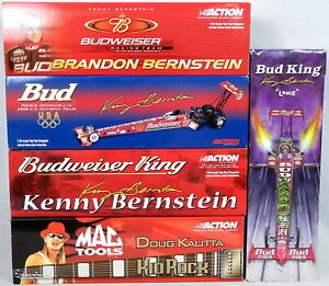 Lot 5 Action Racing Die-Cast Model Cars 1:24 Dragsters Kenny Bernstein, Kid Rock