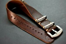 Leather Strap, Military Army, Watch band for Omega,Handmade,18/20/22/24 mm