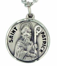 St Patrick Sterling Silver Medal Pendant (SS727-41)  NEW in Jewelry Box