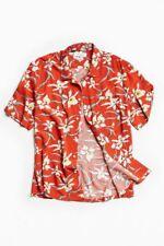 Men Hawaiian Shirt Cruise Tropical Luau Beach Aloha Party Red Caribbean Summer