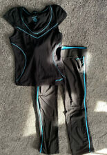 PINEAPPLE Ladies Track Suit Bottoms And Matching Sweat Top Black Blue Size 14