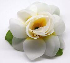 Hawaii Hair Clip Lei Party Luau Gardenia Flower Dance Beach Photo Yellow Heart