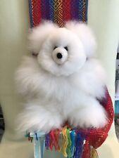 "White Alpaca Fur Teddy Bear from Peru 15"" Plush Soft ""FREE SHIP & FREE GIFT*"