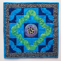 Handmade Quilt Wall Hanging Hand stitched Signed Dated Wanda E Tamasy Art #275