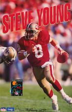POSTER: NFL FOOTBALL : STEVE YOUNG  - SAN FRANCISCO 49'ERS  FREE SHIP  RP67 D