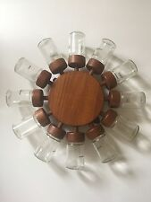 Rare Complete Danish Teak Digsmed 12 Jar Spinning Spice Wheel Mid Century 1964
