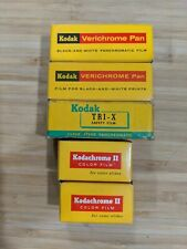 Lot of (5) Vintage Kodak Verichrome Pan, Tri-X, Kodachrome film Sealed exp 1960s