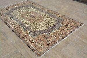 Turkish  Blue Rug, Antique Oushak Rug, Area Vintage Rugs, Turkish carpet, Large