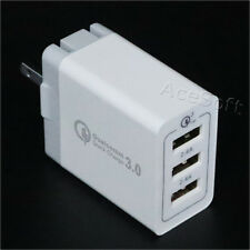 Large Power USB/AC QC 3.0 3-Port Spare Adapter Charger for ZTE Blade Max 3 Z986U