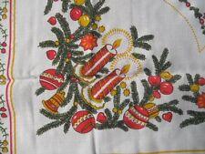 Mitteldecke Weihnachtsdecke Viskose fester Stoff 90x90 weiß CB1196