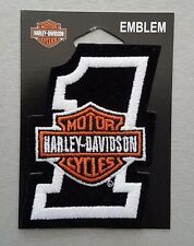 """Patch embroidered sew on, Harley-Davidson, Emblem #1, height 3"""""""