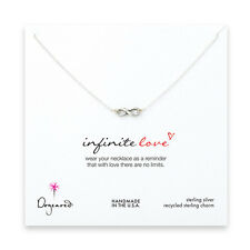 "Dogeared Small Oxidized Silver Infinite Love 16"" Infinity Boxed Necklace"