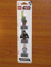 NEW Lego STAR WARS Minifigs Minifigure Kit Fisto Bariss Offee Jag Magnet Set NiB