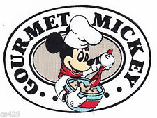 "4"" DISNEY MICKEY GOURMET CHEF  KITCHEN  FABRIC APPLIQUE  IRON ON"