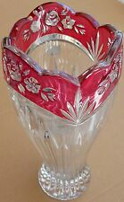 ONEIDA CRYSTAL Cranberry Red Vase,Made in Germany