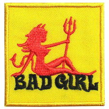 Bad Girl Rockabilly Punk Emo Embroidered Iron on Patch