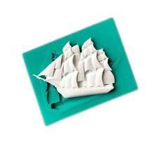 SAILING SHIP SILICONE MOULD-MINI/SAIL BOAT MOLD-ICING/FIMO CAKE TOPPER/PIRATE