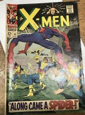 X-MEN #35 w/Spider-Man - early Cross-over - Silver Age 1967