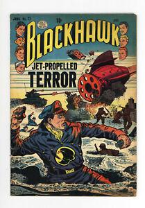 BLACKHAWK #77 - JET PROPELLED TERROR! - CHOP CHOP - RARE ISSUE - 1954