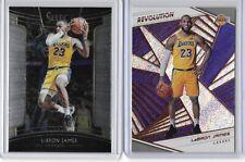 Lebron James 2018-19 Panini Select & Revolution Base Lot Lakers