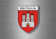 sticker adesivi adesivo stemma etichetta bandiera auto bratislava slovacchia