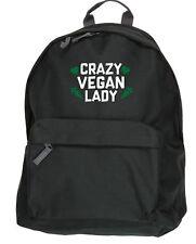 Crazy vegan lady backpack ruck sack Size: 31x42x21cm