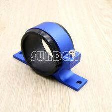 Blue External Fuel Pump Filter Mounting Bracket Holder For Walbro Sytec & Bosch