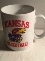 KU Kansas University Jayhawks Vintage Mug Cup NCAA Basketball Champions.