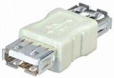 usb 2.0 gender changer adapter verbinder 2x A-buchse kupplung doppelkupplung neu