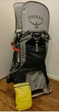 Osprey Poco Plus baby toddler Child carrier Hike Backpack + Sun & Rain Cover VGC