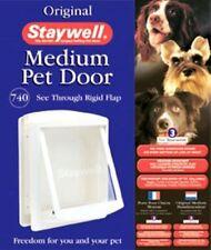 Staywell Original Pet Cat Dog Door Medium White Flap 740 EFS