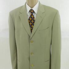 44 L Hugo Boss Beige Pure Wool Super 100 3 Btn Mens Jacket Sport Coat Blazer