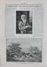 1902 Imprimé Mr Sidney Cooper Veteran Artiste ~ Kentish Ferme