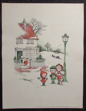 """1961 Joan Walsh Anglund 11x14.5"""" Print VG+ Christmas is a Time of Giving 2"""