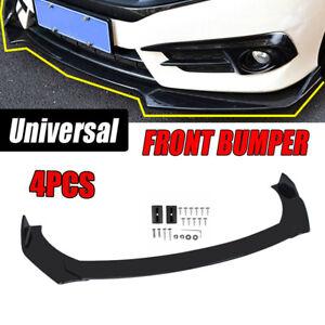 Universal Front Bumper Spoiler Lip Body Kit Splitter Chin Decoration Gloss Black