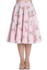 Hell Bunny Deery Me Vintage Retro Rockabilly 40s 50s Skirt Flare Swing Party