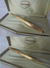 PENNA SFERA AURORA 98 IN ARGENTO 925 E ORO VERMEIL '82+ BOX Silver Gold Ball Pen