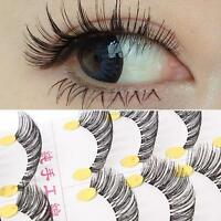 10 Pairs Makeup Beauty False Eyelashes Fake Eye Lashes Human Hair Eye Lash G62