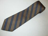 New Brooks Brothers Tie Brown Blue Stripe Luxury Designer Jacquard Woven Necktie