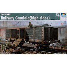 Trumpeter/model Kit German Railway Gondola - Trumpeter 135 Car High Sides Model