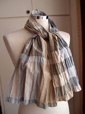 BURBERRY Cotton  Beige Shawl/Scarf 30cm x 130cm