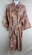 Women's Robe BOHO Floral Print 3/4 Flared Sleeves Sash Tie