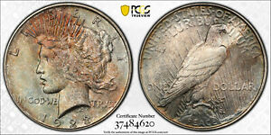 1923-D Peace Dollar, PCGS MS61, Amazing Toning!