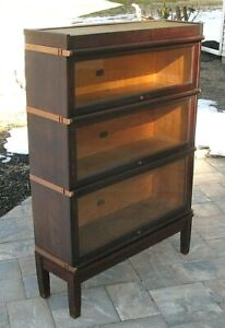 Antique 1910 Era HALE MAHOGANY BARRISTER LAWYER'S STACKING SECTIONAL BOOKCASE