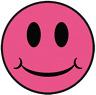 Cara Feliz Rosa Impactante Parche Bordado Insignia Últimos